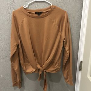 long sleeve tied forever 21 shirt